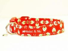 Mabel & Mu Dog Collar - Peppermint Cream - from